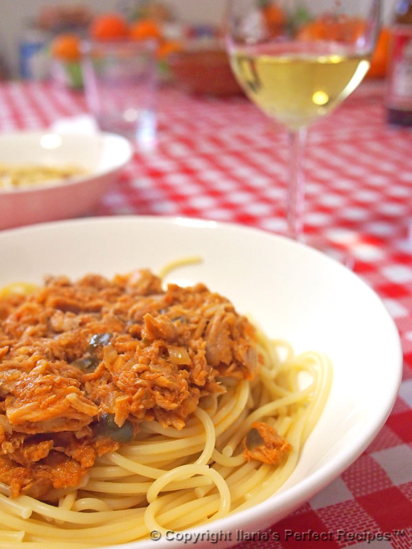 Tuna Sauce for Pasta with Capers - Ilaria's Perfect Recipes