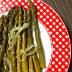 asparagus onion white wine