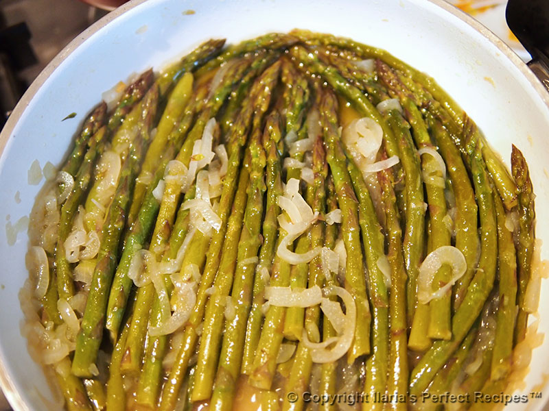 asparagus pan cooked