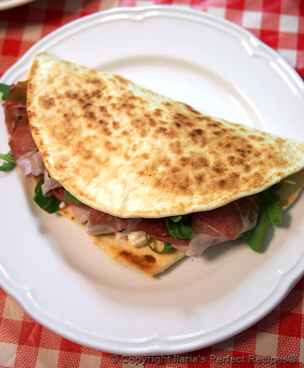 authentic italian piadina half moon