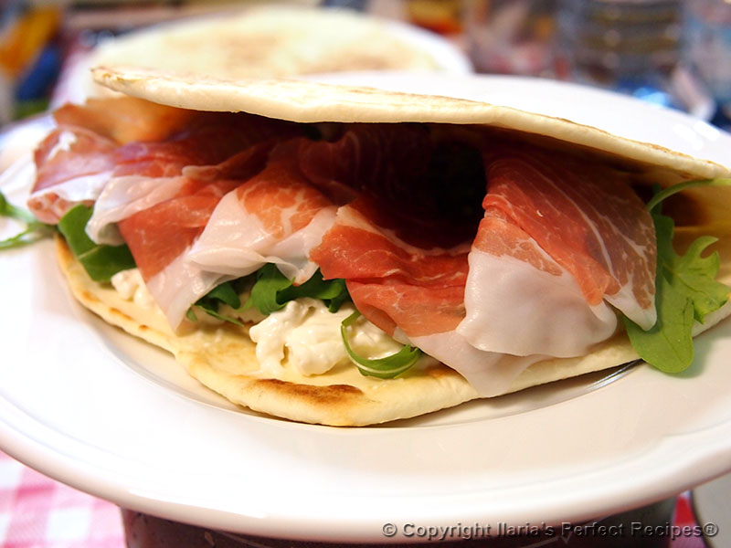 best italian flatbread piadina closeup