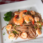 easy, quick, shrimp, pasta, sauce, prawn, italian, garlic, lemon