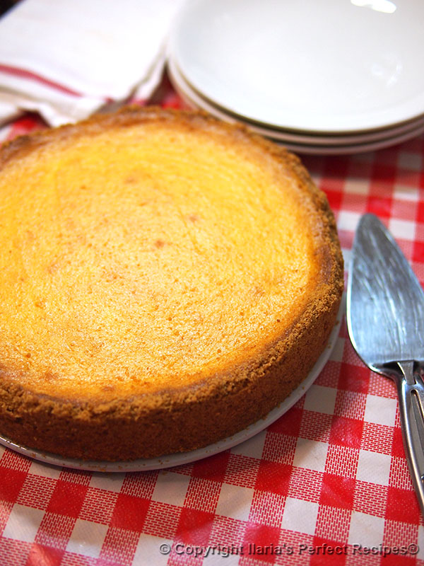 italian cheesecake baked side