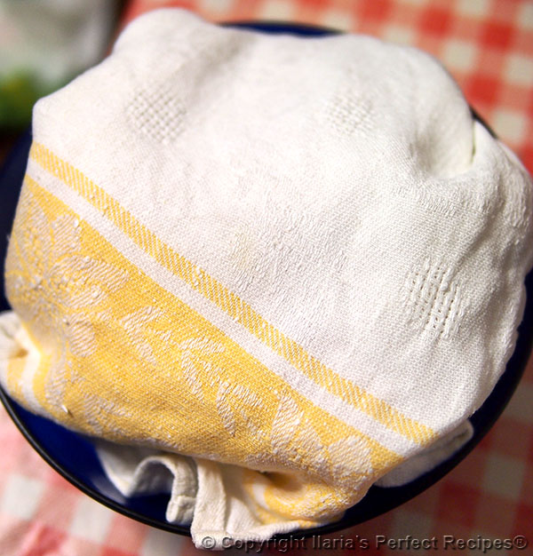 ricotta enclosed cloth
