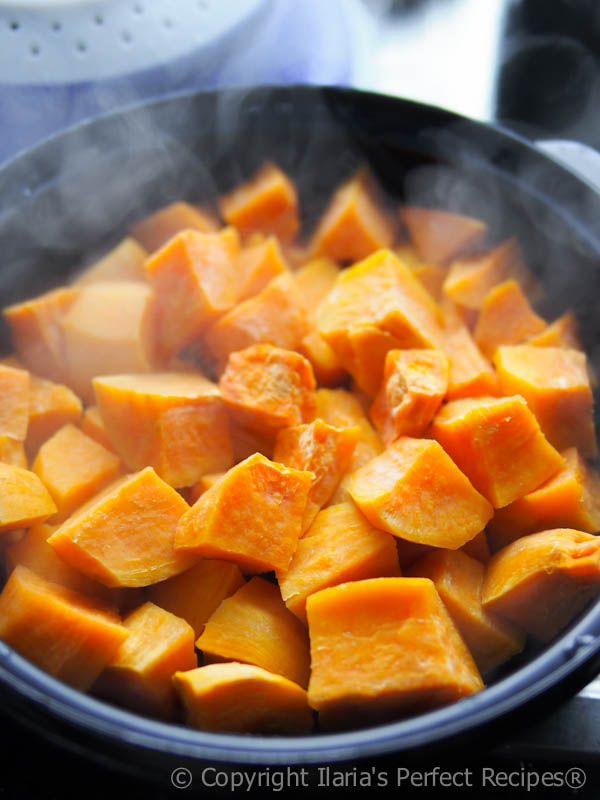 sweet potato steamed